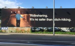 Ridesharing billboard